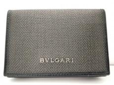 BVLGARI(ブルガリ) 名刺入れ美品  ウィークエンド ダークグレー×黒
