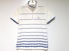アダバット 半袖カットソー サイズ38 M レディース美品  白×ブルー