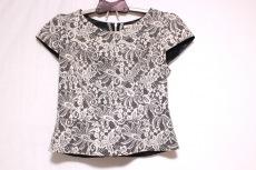 aimer(エメ) 半袖カットソー サイズ9 M レディース美品  黒×白