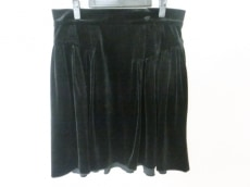 フォクシーニューヨーク スカート サイズ42 L レディース 黒 ベロア