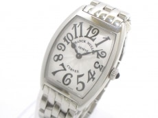 フランクミュラー 腕時計美品  トノーカーベックス 1752QZ SS 白