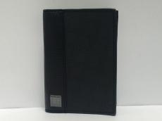 ダンヒル 名刺入れ美品  黒 PVC(塩化ビニール)×レザー
