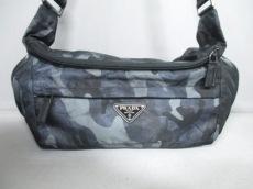 PRADA(プラダ) ショルダーバッグ美品  - VA0994 黒×グレー×マルチ