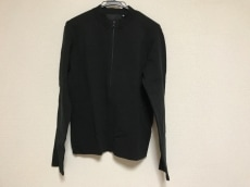 PRADA(プラダ) 長袖カットソー メンズ美品  黒 ジップアップ