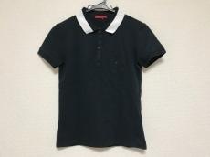 プラダスポーツ 半袖ポロシャツ レディース美品  黒×白