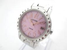 シチズン 腕時計 wicca E011-S049288 レディース ラインストーン