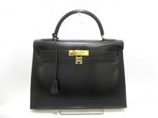 エルメス ハンドバッグ ケリー32 黒 ゴールド金具 ボックスカーフ