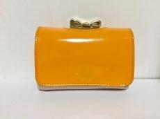 TED BAKER(テッドベイカー) 3つ折り財布 オレンジ×ピンク×ゴールド