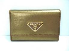 PRADA(プラダ) キーケース - ブロンズ 6連フック レザー