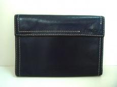 miumiu(ミュウミュウ) 3つ折り財布 - ネイビー レザー