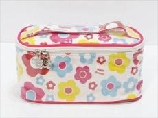 マリークワント バニティバッグ美品  白×ピンク×マルチ
