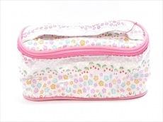 マリークワント バニティバッグ美品  ピンク×白×マルチ