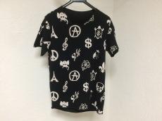ルシアンペラフィネ 半袖Tシャツ レディース 黒×アイボリー