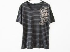 ロアー 半袖Tシャツ サイズ3 L レディース 黒×ライトグレー×マルチ
