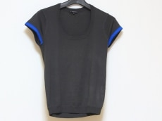 theory(セオリー) 半袖セーター サイズ2 S レディース 黒×ブルー