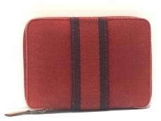 HERMES(エルメス) 2つ折り財布 フールトゥパースPM レッド×ボルドー