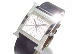 エルメス 腕時計 Hウォッチ HH1.510 メンズ 革ベルト/□C アイボリー
