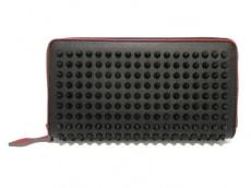 クリスチャンルブタン 長財布美品  パネトーネ/スパイク 黒×レッド