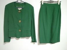 エルメス スカートスーツ サイズ40 M レディース美品  グリーン