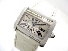 カルティエ 腕時計 ミニタンクディバン W6300255 レディース 白