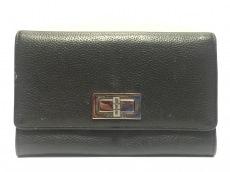 CHANEL(シャネル) 2つ折り財布 2.55 黒 レザー