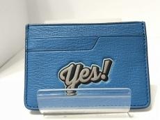 アニヤハインドマーチ カードケース美品  ブルー×ネイビー×レッド