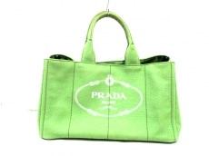 プラダ トートバッグ CANAPA B1872B ライトグリーン キャンバス
