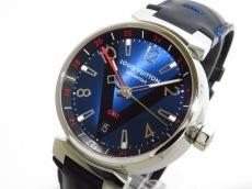 ヴィトン 腕時計美品  タンブール オートマティック GMT Q1157