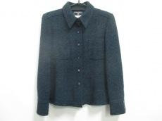 シャネル ジャケット サイズ38 M レディース美品  黒×ブルー