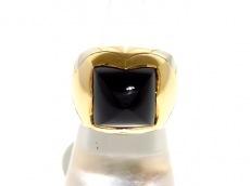 ブルガリ リング美品  ピラミデリング K18YG×K18WG×オニキス 黒