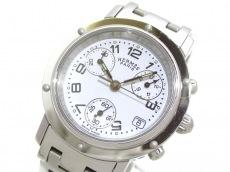 エルメス 腕時計美品  クリッパークロノ CL1.310 レディース 白