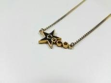 CHANEL(シャネル) ネックレス 金属素材 ゴールド×黒 スター