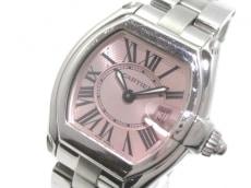 カルティエ 腕時計 ロードスターSM W62017V3 レディース SS ピンク