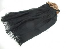 FENDI(フェンディ) ストール(ショール) 黒×ブラウン ファー