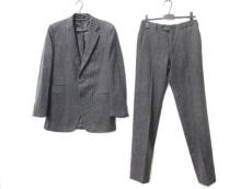 HERMES(エルメス) シングルスーツ メンズ美品  ダークグレー×レッド