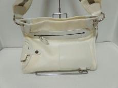 BALLY(バリー) ショルダーバッグ 白×アイボリー 化学繊維×レザー