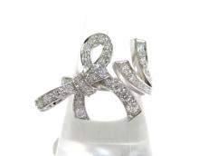 ヴァンクリーフ&アーペル リング美品  リュバン K18WG×ダイヤモンド