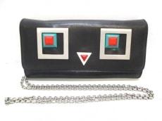 FENDI(フェンディ) 財布 スクエアアイ 8M0365 黒 レザー