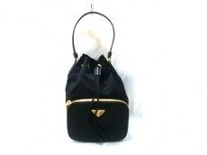 PRADA(プラダ) ハンドバッグ - 黒 巾着型/ミニバッグ ナイロン