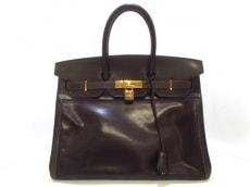 エルメス ハンドバッグ バーキン35 カフェ ゴールド金具 アマゾニア