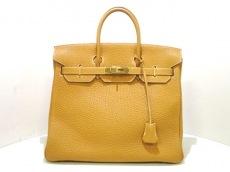 エルメス ハンドバッグ オータクロア32 サフラン ゴールド金具