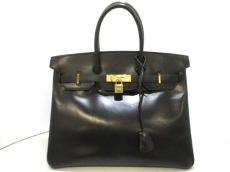 エルメス ハンドバッグ バーキン35 黒 ゴールド金具 ボックスカーフ