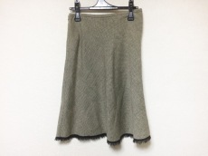 TOCCA(トッカ) スカート レディース美品  ベージュ×黒×白