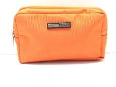 ZERO HALLIBURTON(ゼロハリバートン) ポーチ美品  オレンジ ナイロン