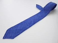 DRAKE'S(ドレイクス) ネクタイ メンズ新品同様  ブルー 織物