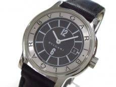 BVLGARI(ブルガリ) 腕時計 ソロテンポ ST29S レディース 革ベルト 黒