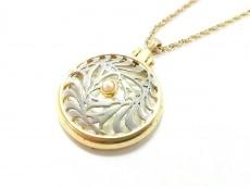 mikimoto(ミキモト) ネックレス美品  金属素材×ガラス×パール