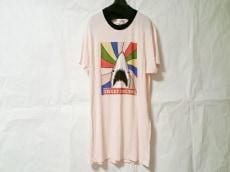サンローランパリ 半袖Tシャツ メンズ ピンク×マルチ