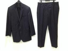 ドルチェアンドガッバーナ シングルスーツ メンズ 黒×ダークグレー