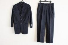 ジョルジオアルマーニ シングルスーツ メンズ 黒×ライトグレー